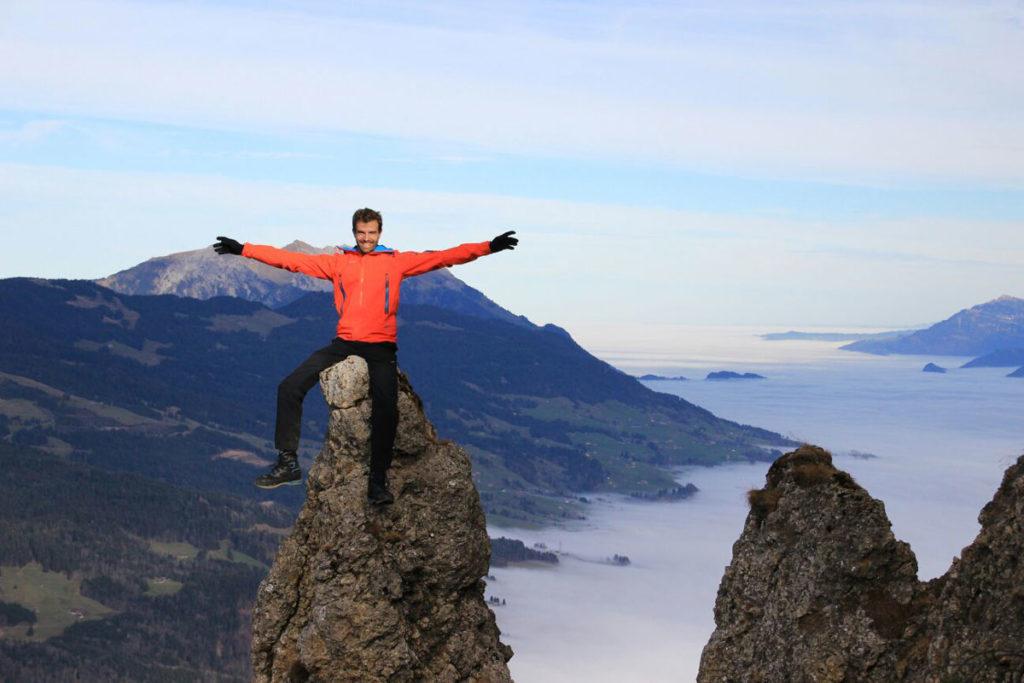Stefan Halter erklimmt gerne Berge.